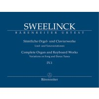 Sweelinck, Jan Pieterszoon - Orgel- und Klavierwerke Band IV.1