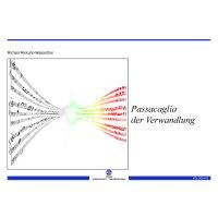 Penkuhn-Wasserthal, Michael - Passacaglia der Verwandlung