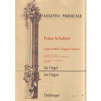 Schubert, Franz - Fuge e-moll
