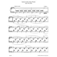 Mendelssohn Bartholdy, Felix - Lieder ohne Worte
