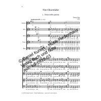Nipp, Thomas - Vier Chorstücke für 4-6st. gemischten Chor