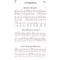 Ziesmann, Egon - Zur Begrüßung - Kanonblatt