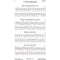 Kanonblatt - In Gott geborgen
