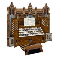Cathedral Organ - 3D pipe organ greeting card
