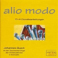 "Alio Modo ""17+4 Choralbearbeitungen"""