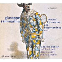 giuseppe sammartini - sonatas for recorder and basso...