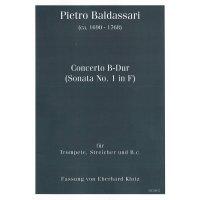 Baldassari, Pietro - Concerto B-Dur - Partitur und Stimmen