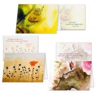 3er-Set Trauerkarten mit Transparentpapier