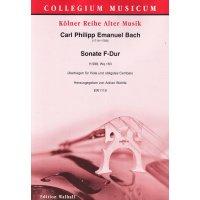 Bach, Carl Philipp Emanuel - Sonate F-Dur H.588, Wq. 163
