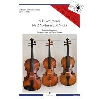 Naumann, Johann Gottlieb - 5 Divertimenti - Partitur+Stimmen
