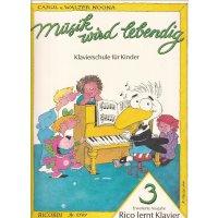 Noona, Carol/Walter - Rico lernt Klavier - Band 3