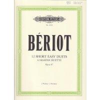 de Bériot, C.A. - 12 kleine leichte Duette op. 87