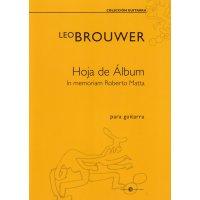 Brouwer, Leo - Hoja de Álbum
