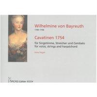 Bayreuth, Wilhelmine von - Cavatinen