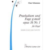 Schumann, Clara - Praeludium und Fuge g-moll op. 16 Nr. 1