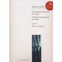 Karg-Elert, Sigfrid - Choral-Improvisationen für Orgel - Heft 1
