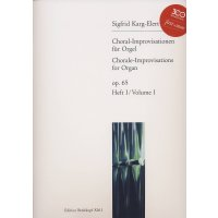 Karg-Elert, Sigfrid - Choral-Improvisationen für...
