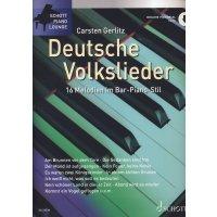 Deutsche Volkslieder - 16 Melodien im Bar-Piano-Stil